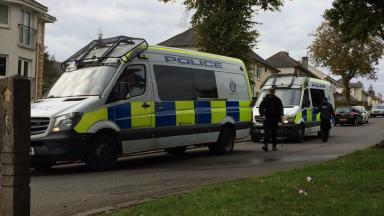 Search: Police conduct high-visibility searches on Saturday.