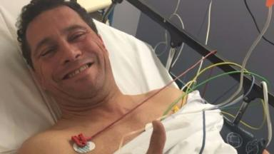 Steven Woolfe was taken to hospital on Thursday afternoon.