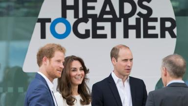 The royal trio at the launch of Heads Together.