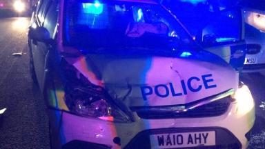 The stolen police car.