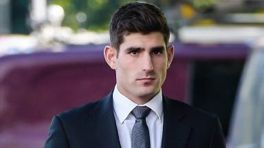 Ched Evans was giving evidence on the fourth day of his retrial.