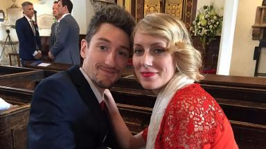 Emma Houlston and her fiance Matt Lees.