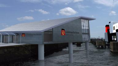 Terminal: An artist's impression of the £8m facility at Troon harbour.