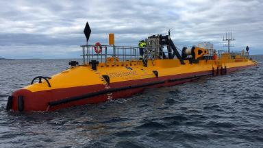 SR2000 tidal turbine at the European Marine Energy Centre in Orkney