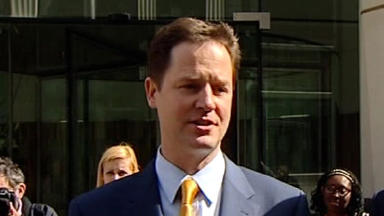 Praise: Nick Clegg said Willie Rennie was Alex Salmond's most effective challenger.