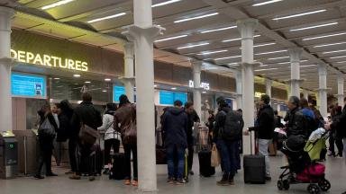Passengers at St Pancras are unable to board