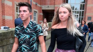 Joe Pugh was left seriously injured and his girlfriend Leah Washington also lost her leg