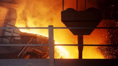 Molten metal, smelting, smelter, furnace stock/generic image from PA