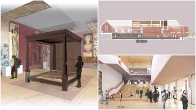 Proposals: What the new interior of the Burrell Collection could look like.