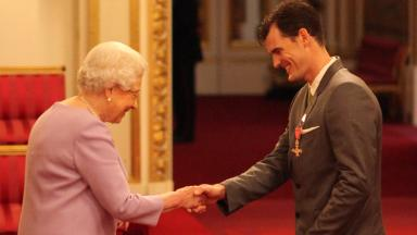 Honour: Jamie Murray was given OBE by the Queen on Tuesday.
