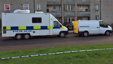 Arnage Place: Officers on scene after body was found.