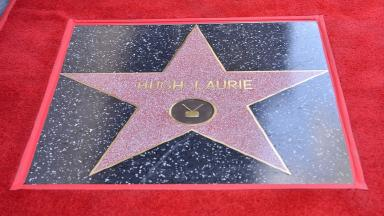 Hugh Laurie's star on the Hollywood Walk of Fame.