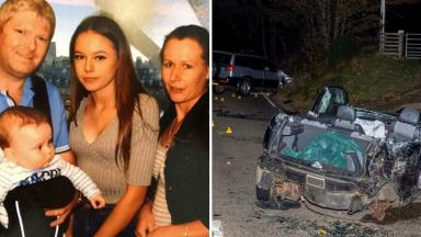 Tributes paid: Neringa Narusyte (centre) died in Moray road crash.