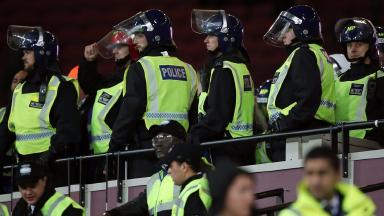 Violence erupted between West Ham and Chelsea fans on Wednesday