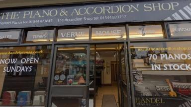 The Piano and Accordion Shop in Sunningdale.