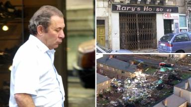 Wreckage: Clothes sold by Tony Gauci at his small shop were found.