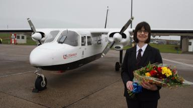Anne Rendall is celebrated as the millionth passenger.