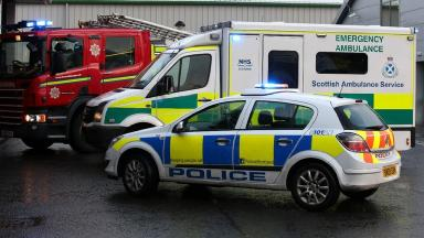 Emergency services respond to a call.