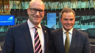 Peter Whittle (R) has called on his supporters to now back Paul Nuttall (L) instead.