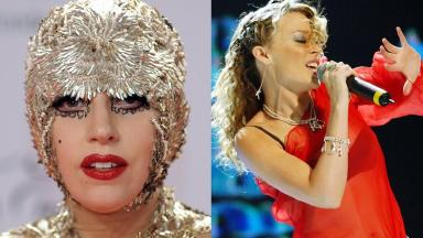 Lady Gaga and Kylie Minogue are responsible for the most catchy tunes, according to a study.