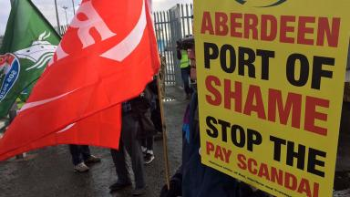 Aberdeen: RMT protest over 'ships of shame' last week.
