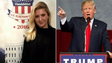 Trumpeting Trump: Mhairi Fraser is an admirer of the billionaire.