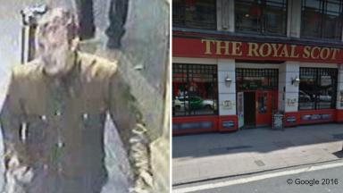 Appeal: Officers want to speak to this man over incident in The Royal Scot.