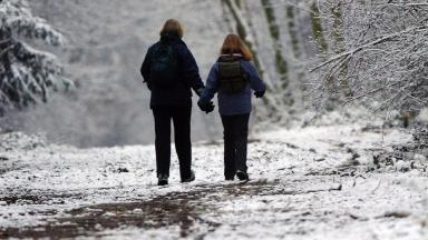 Snow forecast in central Scotland