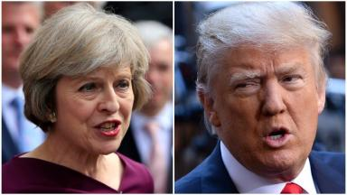 Talks: Theresa May and Donald Trump spoke on the phone on Thursday afternoon.