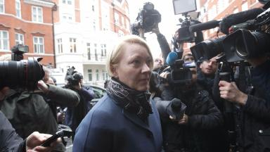 Swedish prosecutor Ingrid Isgren arrives at the Ecuadorian embassy in London.