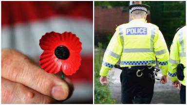 Remembrance: Police investigating after 'disgraceful incident' (file pic).