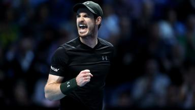 World beater: Andy Murray got off to a winning start in the ATP finals.
