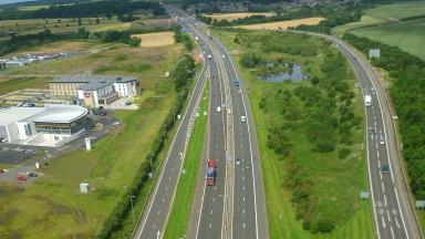 Works: Transport Scotland is spending £565,000 on the project (file pic).