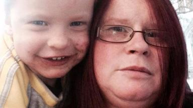 Drowning: Mother-of-four Julie Walker and son Lucas.