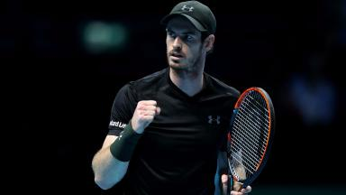 Andy Murray: The Scot beat Kei Nishikori 6-7 (9-11), 6-4, 6-4.