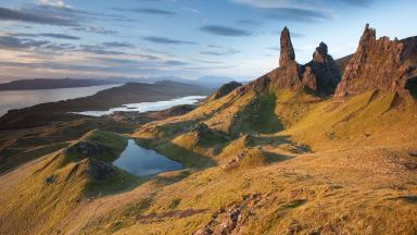 Skye: Sunrise over the Old Man of Storr (file pic).