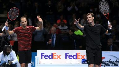 Brazil's Bruno Soares (left) and Great Britain's Jamie Murray (right)