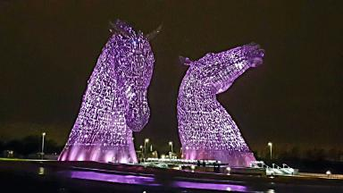 Kelpies: Scottish Canals pleased to support event.