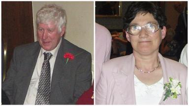Funeral: Donald and Morag Macmillan died on Lewis last week.