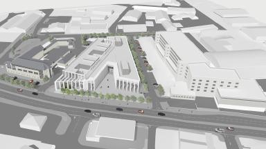 Plans: Vision for new Inverness Justice Centre.