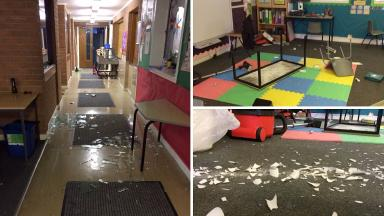 Markethill: The primary school was trashed over the weekend.