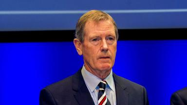 Speech: King gave his thoughts to the club's shareholders.