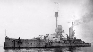 Kronprinz Wilhelm: One of the ships targeted by the pair (file pic).
