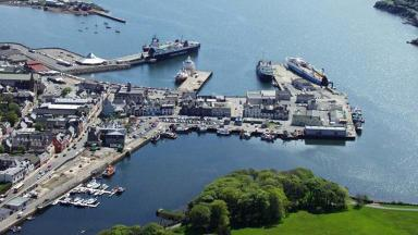 Stornoway: More than 95% of visitors to Lewis travel through the harbour (file pic).