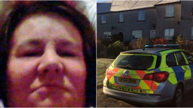 Collage of Sharon Greenop and house on Aldersyde Avenue in Troon. Collect from Facebook