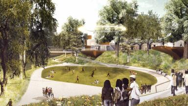 Vision: An artist's impression of how Union Terrace Gardens could look.