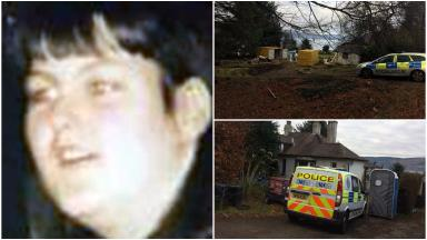 Police searching home of missing Inverkip woman Margaret Fleming. Images from STV