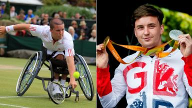 Paralympic hero: Reid in 2008, left, and 2016.