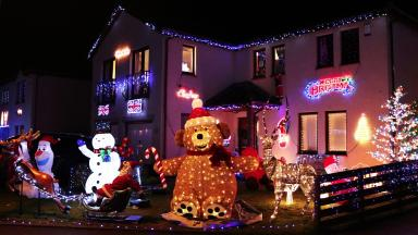 Malcolm's Way in Stonehaven has a Christmas display each year