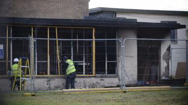 GV of Gowanbank Primary School in Glasgow's Pollok after fire forced it to close